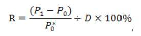 R=(P1-P0)/P0*/D*100%